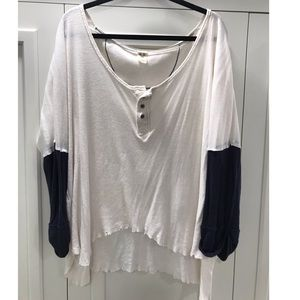 Free People Relaxed Henley Top